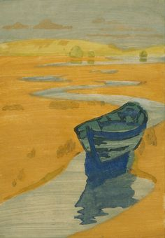 The Derelict (The Lost Boat), 1916, Arthur Wesley Dow. American (1857 - 1922)