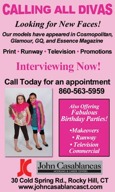 John Casablancas Modeling & Career Center is on the lookout for new faces! John Casablancas Modeling & Career Center believes in taking our models to their full potential. We provide an open forum for our models and their families to ask, learn, experience, and get to know the true nature of the modeling industry in a positive and fulfilling manner.