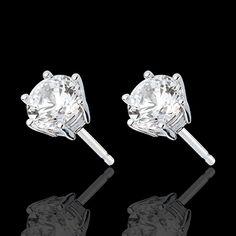 0.5 ct créé diamant 14K or jaune taille brillant push dos clous d/'oreilles