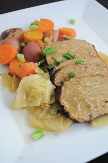 la pure mama.: Vegan Corned Beef and Cabbage