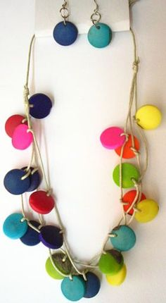 Ready to Roll – Fimo Schmuck -… Ready to roll it Yourself – polymer clay jewelry – Sculpey Clay, Polymer Clay Projects, Polymer Clay Creations, Polymer Clay Necklace, Polymer Clay Beads, Diy Jewelry, Jewelry Making, Clay Design, Bijoux Diy