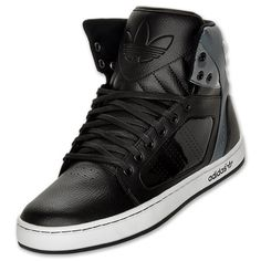 adidas Originals adiHigh EXT Men's Casual Shoes | FinishLine.com | Black/Grey/White