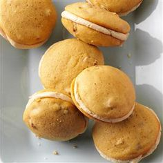 Maple Whoopie Pies Recipe -In New York, we have a huge maple syrup industry. I took a basic whoopie pie and gave it a twist using our beloved maple flavor. —Holly Balzer-Harz, Malone, New York