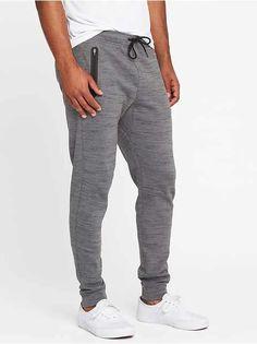 Go-Dry Tech-Fleece Joggers for Men - oldNavy Mens Joggers, Fleece Joggers, Sweatpants, Tech Fleece, Mens Activewear, Shop Old Navy, Double Knitting, Active Wear, Legs