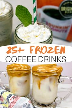 We rounded up a slew of iced coffee recipes and frozen coffee treats for all you fellow java junkies! We have over 25 coffee recipes for the warm weather! Frozen Coffee Drinks, Coffee Drink Recipes, Drinks Alcohol Recipes, Non Alcoholic Drinks, Cocktails, Iced Coffee, Food And Drink, Treats, Desserts