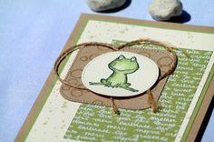 by Keksie: Love you lots, Frosch, Stampin up, Karte, Playful Backgrounds,