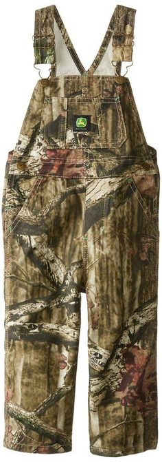 John Deere Toddler Boys' Camo Overall, Mossy Oak-John Deere Toddler Mossy Oak OverallsJohn Deere trademark overalls in Mossy Oak camo print. Features John Deere green and yellow logo on the front center. John Deere Kids, Mossy Oak Camo, Kids Hats, Camo Print, Toddler Boys, Overalls, Clothes, Fashion, Outfits