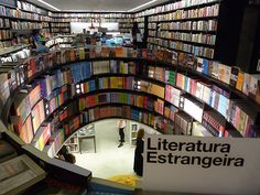 9 Awe-Inspiring Bookstores Around the World...Bookstore is in  Livraria da Vila in São Paulo, Brazil