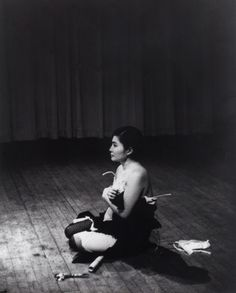 """moma: """"Yoko Ono: One Woman Show, featuring the artist's pioneering early works, opens today. Performed by Yoko Ono in """"New Works of Yoko Ono,"""" Carnegie Recital."""