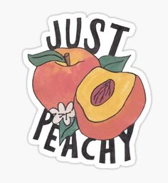 Just Peachy Pegatina