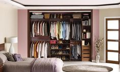 Fitted Wardrobe in Walnut. Space Saving