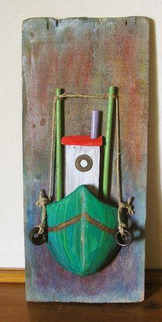 driftwood fishing boat