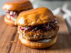 Salmon Burgers With Remoulade and Fennel Slaw