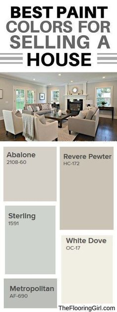 Best paint colors for selling a house #sellingyourhome #paint #color