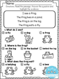 FREE Reading Comprehension For Early Reader