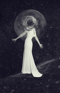 pilar zeta, art, design, gallery, faces, stars, planets, heads, Falling in love with the dark side of the universe