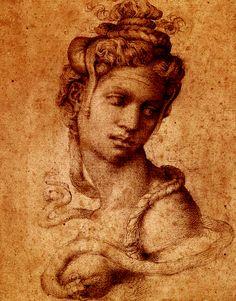'Cleopatra', c.1533 - Michelangelo Buonarroti.