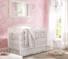 A baby girl will need a chandelier in her nursery