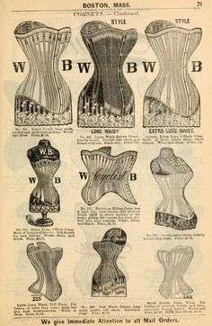 Jordan, Marsh and Company Fall and winter 1895-6 price list for daily reference. (1895)   Bicycle Corset.