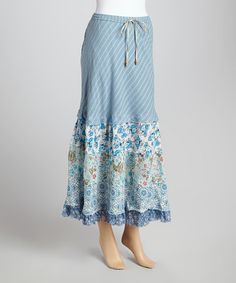 Love this Blue Floral Peasant Convertible Skirt Dress by Blue Sky on #zulily! #zulilyfinds