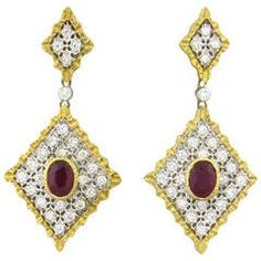 Orecchini di diamanti di diamante di Mario Buccellati
