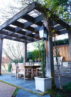 23 Modern Gazebo And Pergola Design Ideas You'll Love - Shelterness Diy Pergola, Backyard Gazebo, Cheap Pergola, Wooden Pergola, Pergola Shade, Pergola Kits, Pergola Ideas, Patio Ideas, Wood Arbor