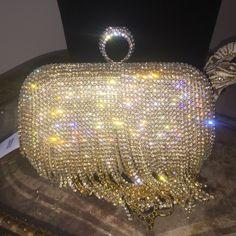 Selling this Beautiful Gold Crystal Clutch in my Poshmark closet! My username is: raediamond. #shopmycloset #poshmark #fashion #shopping #style #forsale #Handbags