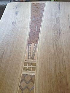 Massive Oak handmade live adge wood dinning table