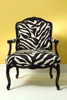 fauteuil zebre