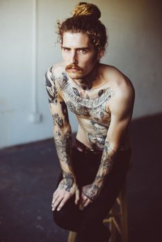 Brandon Knaff by Lucas Passmore, with tattoos