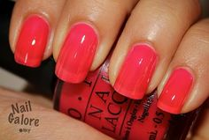 OPI guy meets galveston from Texas collection- juicy orange/pnik