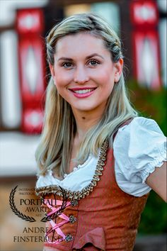 Blonde lady in a dirndl! Toys Photography, Portrait Photography, Cover Model, Awards, Portraits, Lifestyle, Lady, People, Beautiful