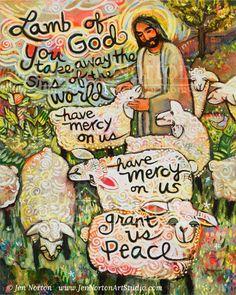 Lamb of God, Have Mercy on Us - Jen Norton Art Studio