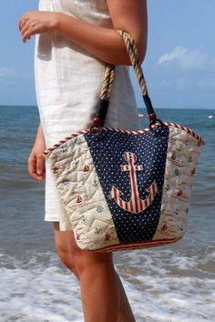 Сумка в морском стиле: пляжные и вязаные