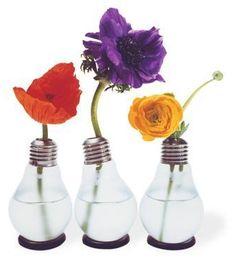 flowerpot with light bulbs