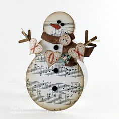 New Memory Box dies and a Snowman card… | Expressions With Heart