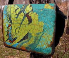 Laptop Bag  SPREAD YOUR WINGS And Fly  Designer   by floorartetc, $75.00  Love the Vintage Art!