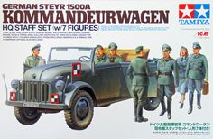 SMN report: Latest take from Tamiya on the Steyr military truck is a neatly crafted scale model, with a more than full complement. Tamiya Model Kits, Tamiya Models, Military Diorama, Military Art, Plastic Model Kits, Plastic Models, Maquette Tamiya, Wooden Ship Model Kits, Germany Ww2