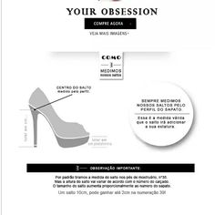 Como medir o salto do seu sapato