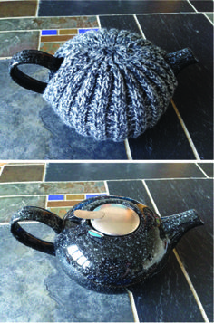 I just bought a new tea pot - but it's so pretty I don't want to cover it with a tea cosy! So I tried to do one resembling the tea pot itself :) With inspiration from https://cosh5.wordpress.com/2008/02/16/hello-world/