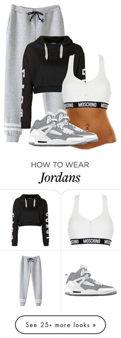 featuring Topshop, Moschino, NIKE, women's clothing, women, female, woman, misses and juniors