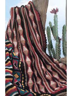 Crochet Afghans - Assorted Crochet Afghan Patterns - Navajo Triangle Strips Free Crochet Afghan Pattern