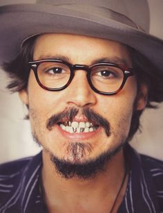 Johnny Depp and his beautiful gold teeth!