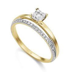 Anel em ouro amarelo 18k e 18,5 pts de diamantes. Joias Vivara. Coleção Pavê