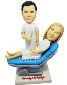This template is for the couple who works in dental business. ,Special unique personalized mini me doll for you or your family which may bring a big impression,we offer personalised doll, your own mini me Unique Cake Toppers, Personalized Wedding Cake Toppers, Wedding Cake Decorations, Wedding Cakes, Biscuit, Mini Me, Dentistry, Wedding Couples, Handmade Crafts
