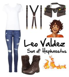 """""""Leo Valdez son of Hephaestus"""" by squidney12 ❤ liked on Polyvore featuring Topshop, Max 'n Chester, ASOS, UGG Australia, women's clothing, women's fashion, women, female, woman and misses"""