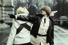 America and Canada cosplay~ hetalia axis powers
