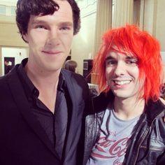 Benjamin Cook with Benedict Cumberbatch...I'm so jealous!