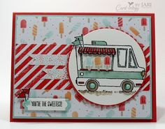 Stampin' Up! Tasty Trucks for Happy Inkin' Thursday - Card-iology By Jari