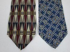 Silk Tie Lot Of 2 Necktie Robert Talbott And Salvatori New 3.75 x 57 Inch #RobertTalbott #Tie